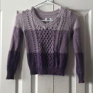 Cute Tri Purple Color Vneck Sweater